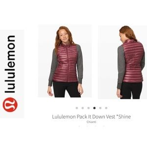 BNWT Lululemon Pack It Down Vest. Chianti Sz 10